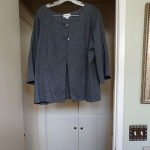 Avenue knit jacket and zippered skirt